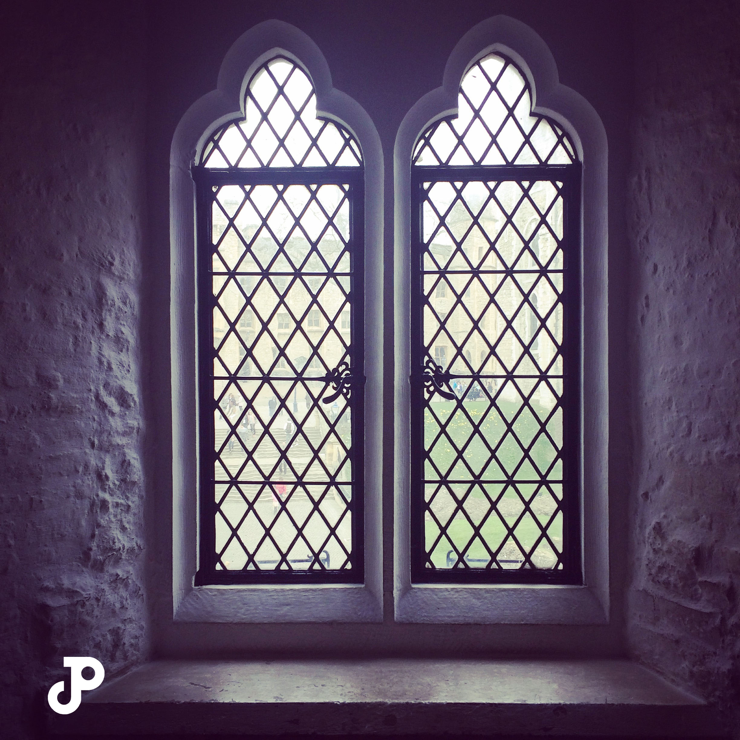 windows in the Bloody Tower at the Tower of London