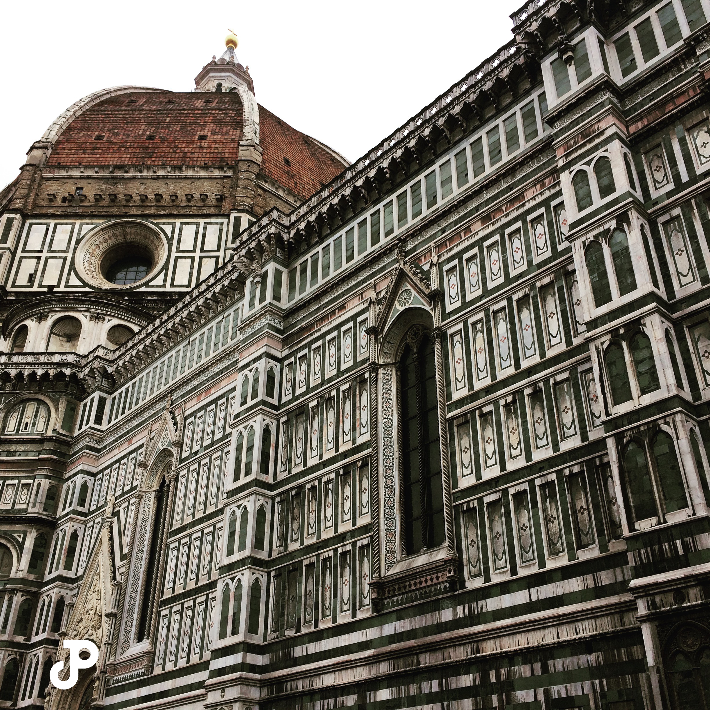 a close-up view of the Duomo in Florence