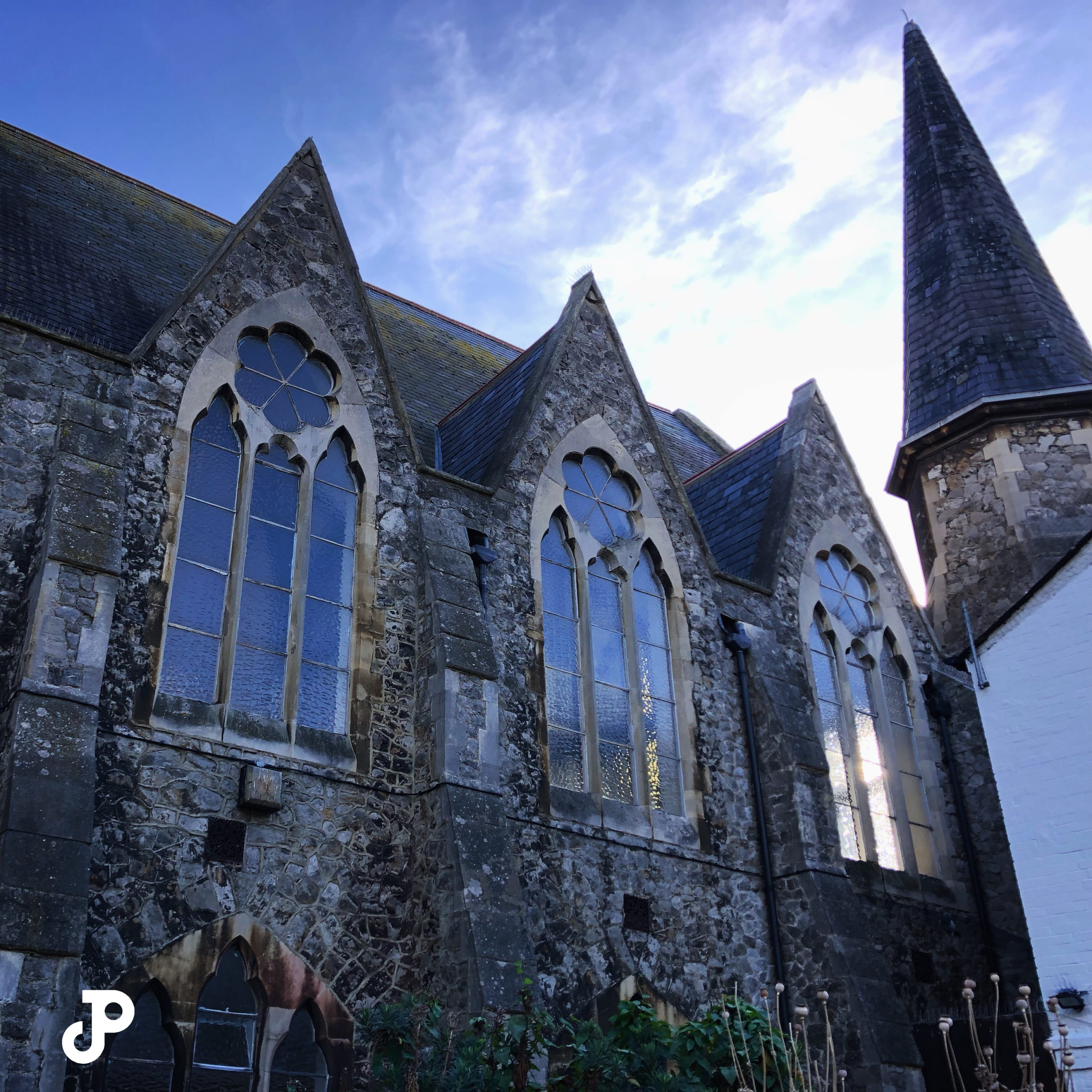 A centuries-old stone church in Kingston Upon Thames, London
