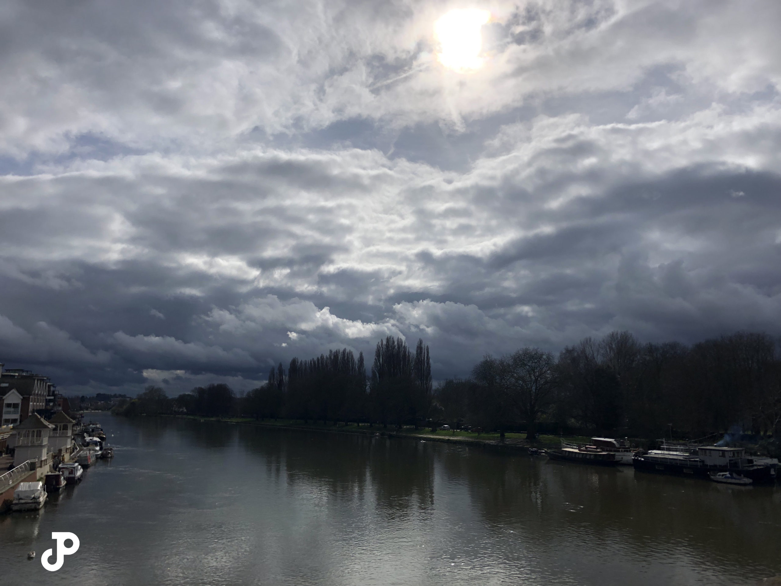 the River Thames in Kingston Upon Thames, London