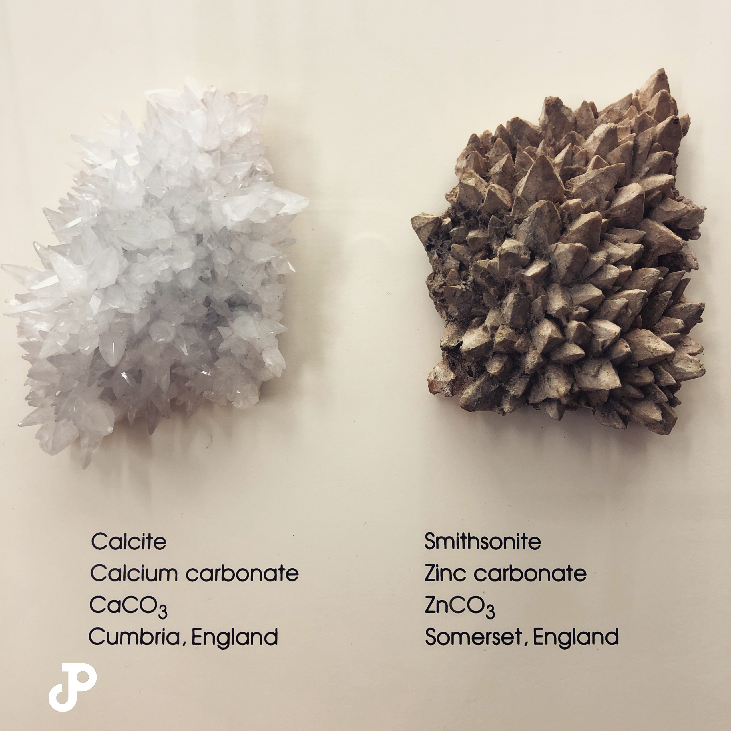 a geological display in the London Natural History Museum