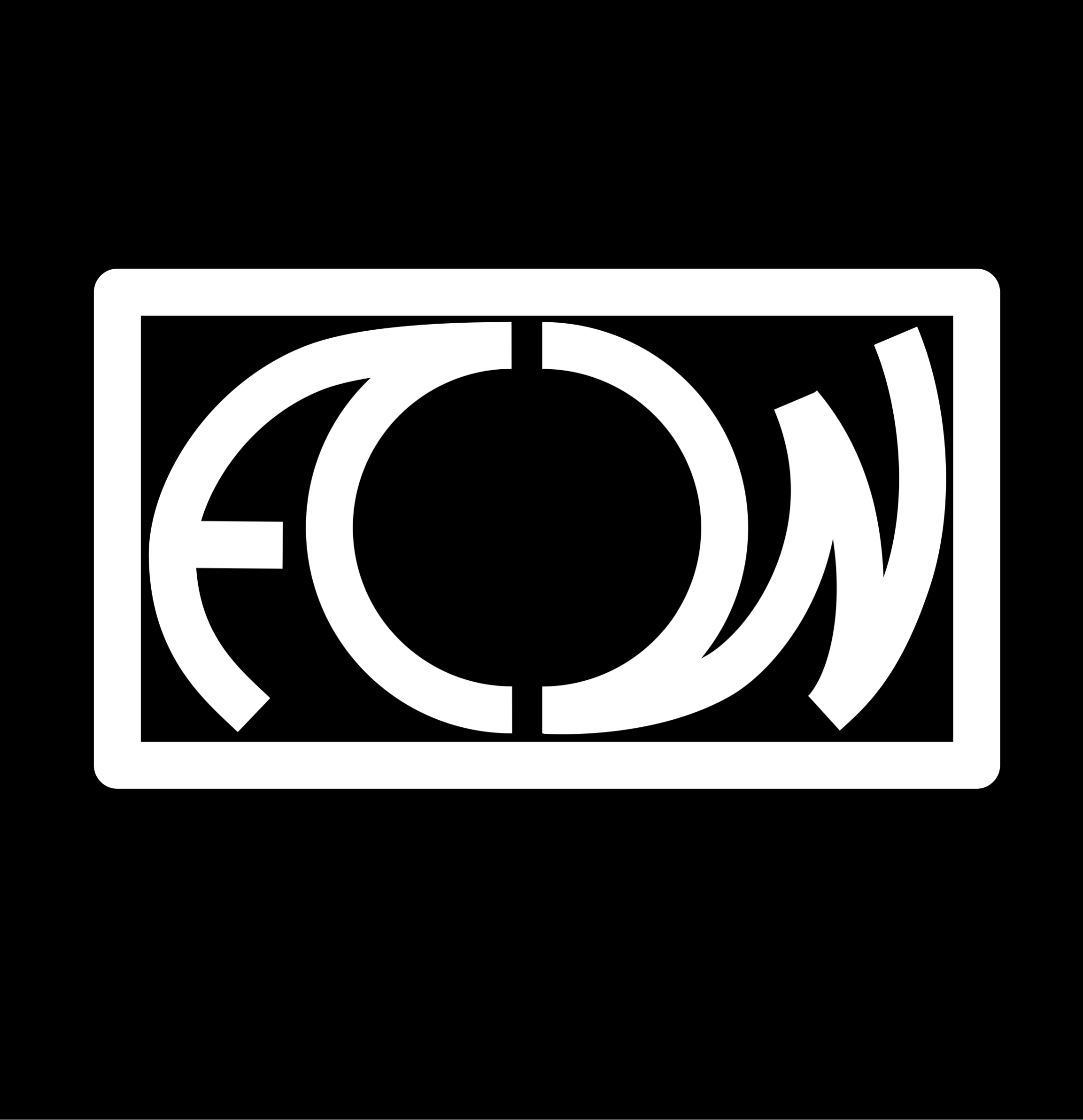 an illustrated logo in the shape of a camera with the letters A W
