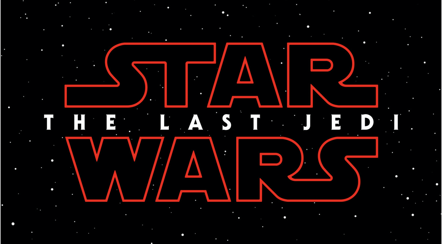 An image of the Star Wars: The Last Jedi logo